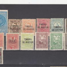 Romania 1900 Lot 18 valori Timbru de ajutor - Timbre Romania, Oameni, Nestampilat
