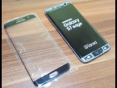Geam Samsung Galaxy S7 Edge SM-G935  negru alb auriu roz argintiu / sticla ecran foto