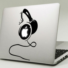 Sticker pentru Apple Macbook cu Headphone (Casti)