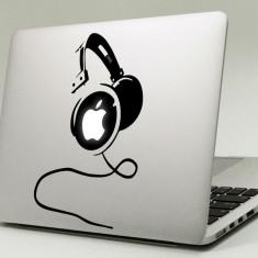 Sticker pentru Apple Macbook cu Headphone (Casti) - Sticker Telefon