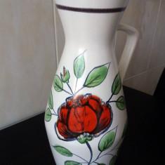 Vaza inalta de podea, ceramica, H 45 cm, W.Germany - Arta Ceramica