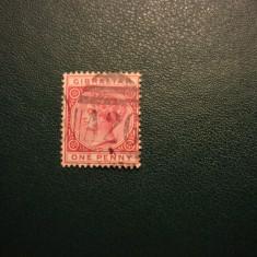 GIBRALTAR REGINA VICTORIA ANGLIA/COLONII, Stampilat