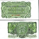 CEHOSLOVACIA- 5 KORUN 1953- UNC!! - bancnota europa