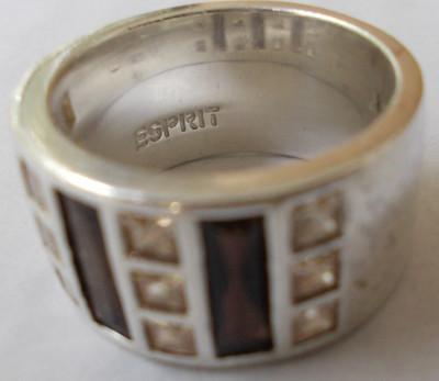 Inel vechi din argint ESPRIT cu pietre colorate foto