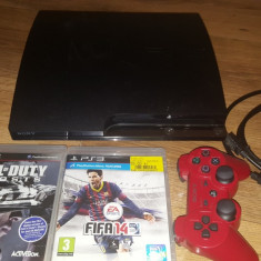 Consola SONY Playstation 3 PS3 PS 3 slim+2 jocuri FIFA 14, Call of Duty – Ghost
