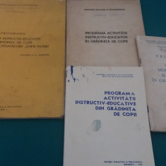LOT 4 CĂRȚI:PROGRAMA ACTIVITĂȚII INSTRUCTIV-EDUCATIVE DIN GRĂDINIȚA DE COPII - Carte educativa