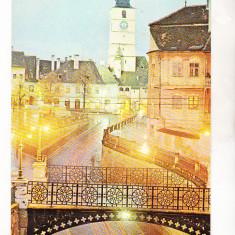 Bnk cp Sibiu - Podul Minciunilor - circulata - Carte Postala Transilvania dupa 1918, Printata