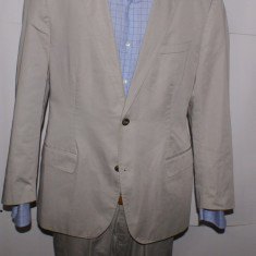 Costum barbati HUGO BOSS Black Label bumbac 100% marimea 52 - 54 gri - argintiu, 2 nasturi, Normal, Marime talie: 34