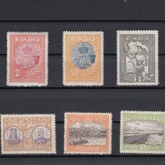 ROMANIA 1913, LP 69, SILISTRA GUMA ORIGINALA SERIE MNH - Timbre Romania, Nestampilat