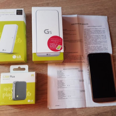 LG G5 - garantie 1 an + LG Cam + baterie externa - Telefon LG, Gri, Neblocat