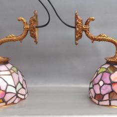 Aplice deosebite bronz sticla TIFFANY, Lustre