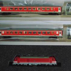Set garnitura Locomotiva BR285 Traxx + 2 vagoane, TT, Tillig - Macheta Feroviara Tillig, TT - 1:120, Seturi complete