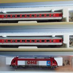 Set garnitura Ep.V cu Locomotiva ER20 + 2 vagoane, TT, Tillig - Macheta Feroviara Tillig, TT - 1:120, Seturi complete