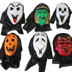 MASCA PETRECERE HALLOWEEN CU CAPISON NEGRU - Costum Halloween