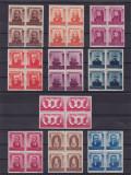ROMANIA  1943 LP 155  FIGURI  ARDELENE  BLOCURI  DE 4 TIMBRE  MNH, Nestampilat
