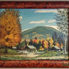 Pictura pe placaj - 1988 - Tablou autor neidentificat, Peisaje, Ulei, Altul
