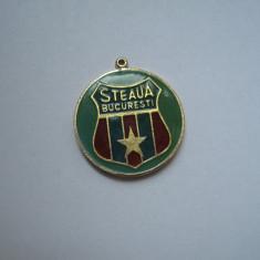 Steaua Bucuresti - breloc, anii 60 (fara lant) - Insigna fotbal