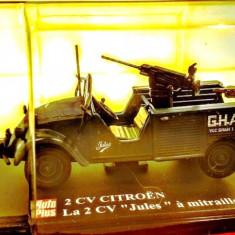 Macheta Citroen 2CV cu mitraliera, 1:43 - Macheta auto