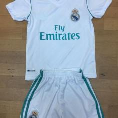Compleu copii REAL MADRID, Model nou 2017/2018 - Echipament fotbal Adidas, Marime: YXXL, YXL, YL, YS, YXS, Set echipament fotbal
