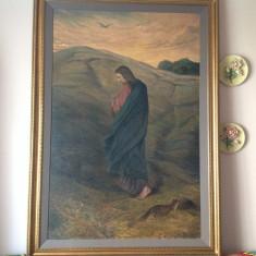 Pictura veche, ulei pe panza. Tablou religios.