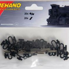 Set clipsuri & conectori sina H0, Mehano F246 - Macheta Feroviara