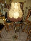 Elegant lampadar ,veioza de podea cu talpa si picior de onix