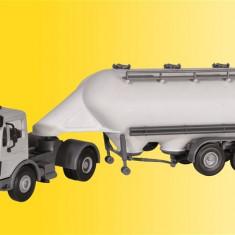 Camion Mercedes cu remorca siloz SPITZER H0 (1:87) KIBRI 14059 - Macheta auto