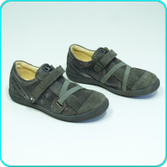 DE CALITATE → Pantofi usori, comozi, piele cu aspect vintage BAMA → fete | nr 31 - Pantofi copii, Culoare: Din imagine, Piele intoarsa