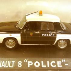 Macheta Renault 8 (Dacia 1100) Politie 1965, 1:43 - Macheta auto
