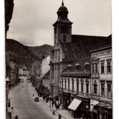 ORASUL STALIN RPR STRADA 7 NOIEMBRIE LOTO - Carte Postala Transilvania dupa 1918, Circulata, Fotografie
