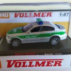 Macheta BMW 330i Politie Germania, H0, 1:87, Vollmer - Macheta auto