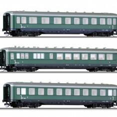 Set 3 Vagoane Calatori, OBB, Ep.III, TT, Tillig 01596 - Macheta Feroviara Tillig, TT - 1:120