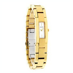 GUCCI 4600L Yellow Gold-Plated Stainless Watch White Display - Ceas dama Gucci, Mecanic-Automatic