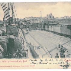 3867 - CONSTANTA, Harbor - old postcard - used - 1904 - Carte Postala Dobrogea pana la 1904, Circulata, Printata
