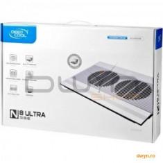 """Deepcool N8 Ultra, structura din aluminiu si plastic, dimensiune notebook: 17"""" (maxim), dual 140mm f"""