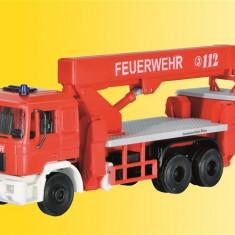 Camion MAN Pompieri cu cos salvare H0 (1:87) KIBRI 18273 - Macheta auto