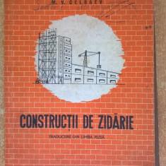 M. V. Celbaev – Constructii de zidarie