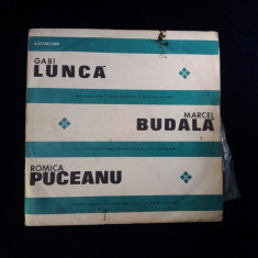 Disc vinil-GABI LUNCA, MARCEL BUDALA SI ROMICA PUCEANU - Muzica Lautareasca electrecord