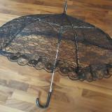 UMBRELA NEAGRA DIN DANTELA - Umbrela Dama