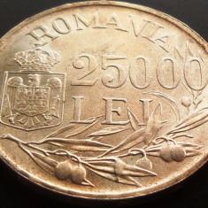MONEDA ISTORICA ARGINT 25000 Lei - ROMANIA, anul 1946 *cjaCOD 18C - - - a.UNC++ - Moneda Romania