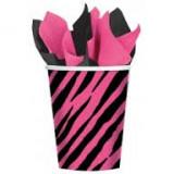 Pahare carton - zebra - Decoratiuni petreceri copii