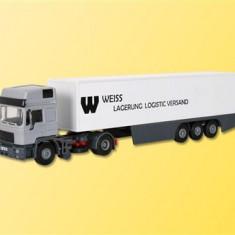 Camion MAN HD cu semiremorca inchisa scara H0 (1:87) Kibri 14661 - Macheta auto