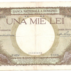 ROMANIA 1000 LEI 1936 VF - Bancnota romaneasca
