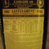 N. 26 - chianti classico castelgreve, doc, MAGNUM recoltare 1982 L.1, 5 gr 12, 3 - Vinde Colectie, Aroma: Sec, Sortiment: Rosu, Zona: Europa