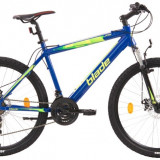Bicicleta MTB cu frane pe discuri schimbatoare Shimano si cadru din aluminiu