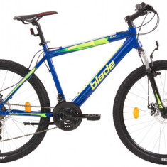 Bicicleta MTB cu frane pe discuri schimbatoare Shimano si cadru din aluminiu, 26, 21