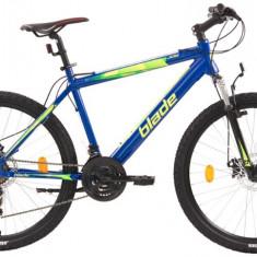 Bicicleta MTB cu frane pe discuri schimbatoare Shimano si cadru din aluminiu - Mountain Bike, 26 inch, Numar viteze: 21