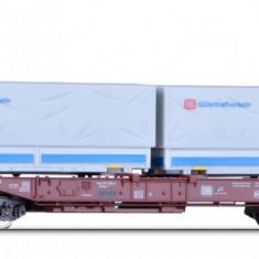 Vagon Platforma Sdkms cu containere DB, Ep.IV, TT Tillig 18151 - Macheta Feroviara Tillig, TT - 1:120, Vagoane