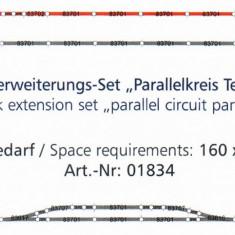 Set sine cu terasament extensie paralela 1, TT Tillig 01834 - Macheta Feroviara Tillig, TT - 1:120