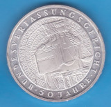 (1) MONEDA DIN ARGINT GERMANIA - 10 MARK 2001, LIT. G, CURTEA CONSTITUTIONALA, Europa